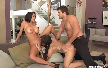 Two Milfs Get Exasperation Got Laid In A Threesome - ava adams