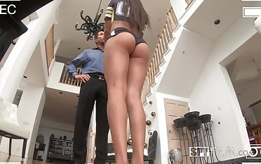 Ample breasted stepdaughter Autumn Falls gets intimate with horny old stepdad