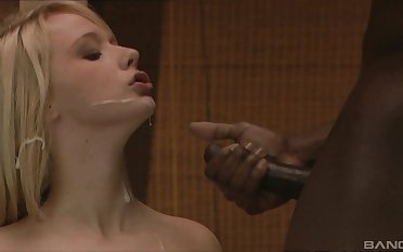 Interracial drilling on the chair with cum in mouth be beneficial to Rachel