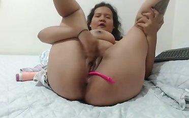 Milking and masturbating