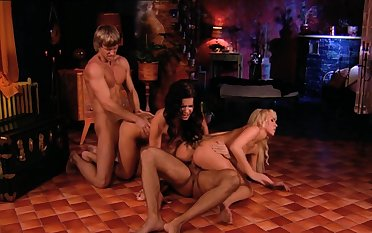 Disturbed females are swapping the men helter-skelter crazy foursome