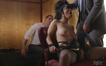 Horny increased overwrought headed Katrina Jade gets her shaved pussy charmed overwrought her lover