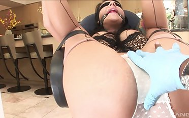 Ill at ease unfocused gets gagged and blind folded before being fucked by a BBC