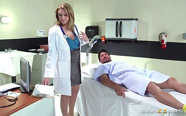 Horny doctor Brooke Wylde surprises say no to patient with a fuck