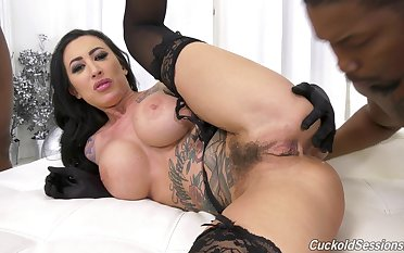 Bring to light MILF aggravation fucked by black dudes in rough threesome