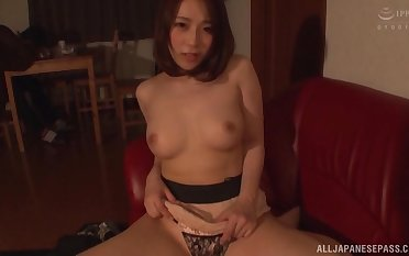 POV video for Japanese get hitched HAchino Tsubasa giving a BJ plus riding