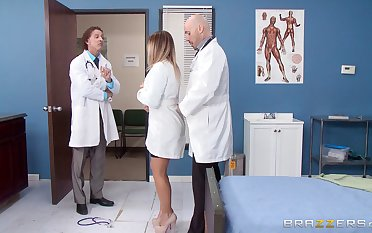 Bazaar nurse fucked from behind by a horny doctor - Payton West