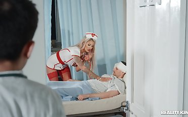 Doctor with a long schlong fucking busty nurse Brooklyn Blue