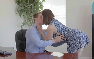 Slutty wife Her Highness Syre is cheating on her old husband with young clerk