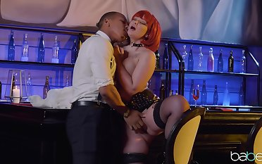 Ravenous redhead Gia Paige fucked rather hard in an obstacle lam out of here