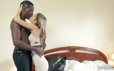 Young Russian fox Gina Gerson takes on a hung black lover