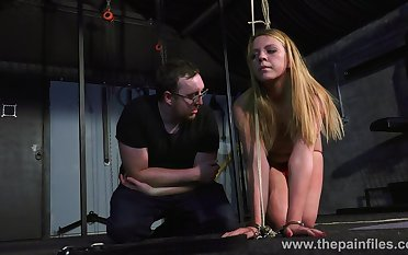 Hideous babe Kate is tied adjacent to increased by spanked in the dark BDSM compass