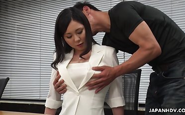 Horny interview for job crumbs light on dampness missionary fuck with Miyuki Ojima