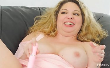 Concupiscent milf take huge pair is putting her favorite sex toys deep in her wet slit