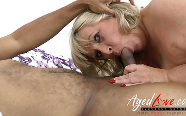 AgedLovE Big Black Cock give British Mature Pussy