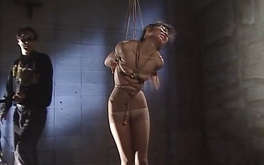 Rough fucking for tied all over Japanese chick who is into bondage