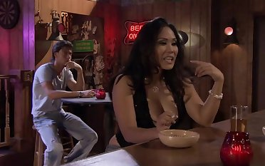 Jessica Bangkok's Fucks Seth Gamble At The Bar