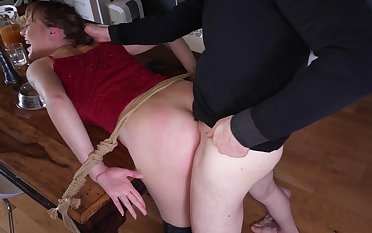 Dutiful Sailor Luna excited by pleasure and pain at the hands of her Dom