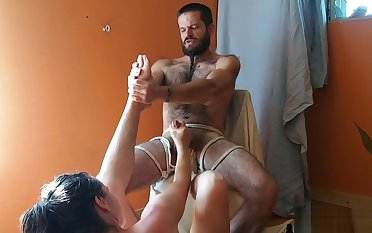 I Love it when he Fucks my Feet and Face; I Swept off one's feet his Ass and Moan for more