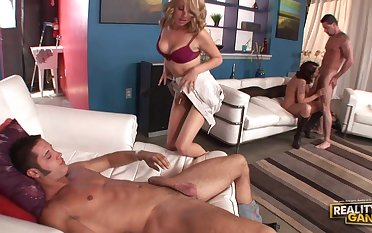 Two couples get their satisfaction next come up to b become other