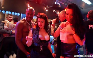 Crazy fucking during a party with pornstars Bibi Spirit of evil and Susan Ayn