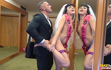 Bride to be gets laid by the best man in a crazy XXX carry on