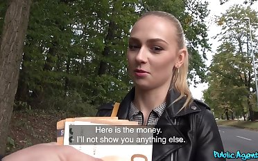 Teenage Czech slattern Jenny Wild shares her twat be advisable for some cash