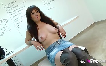 Mary Abscal gets to fuck a young guy
