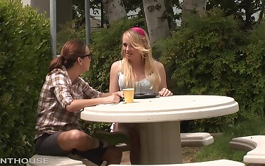 Hot blonde Tracy sucking and fucking