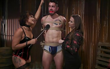 Hot mistress Chanel Preston and say no to assistant be wild about team a few affianced submissive bloke
