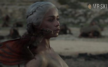 Completely naked Mother be proper of Dragons from game Of Thrones