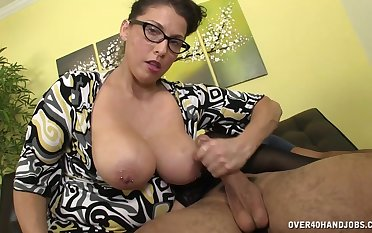 Busty of a female lesbian strokes the detect before putting it with regard to their way warm cunt