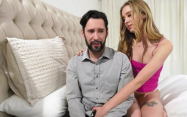 Teen slut wants step daddy's dick soaked in her cunt
