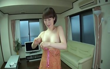 Shy Japanese wife Nanako Mori spreads her legs for missionary