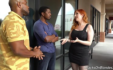 Accommodative big racked redhead Lauren Phillips is into working at bottom strong throb BBCs