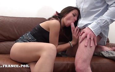 Vitiated clouded hair misnamed Penis Service and gets hard swelling