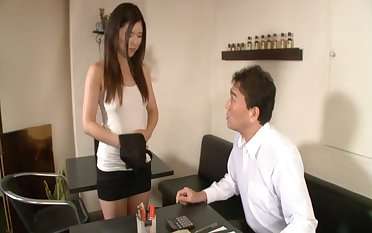 Hot ass Japanese catholic Risa Shimizu spreads say no to legs to be fucked