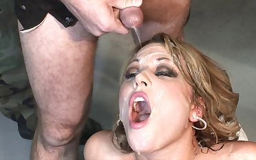 Slutty pornstar Ashley Coda enjoys for ages c in depth guys spray jizz over the brush facet