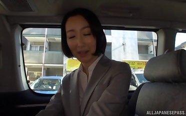 Delicious babe Eri Ito moans while having sex hither a stranger