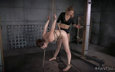 Rough pussy fucking with a strapon the final blow CiCi Rhodes & Rain DeGrey