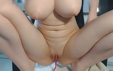 Busty girlfriend loves fretting her clit there lovense lush vibrator