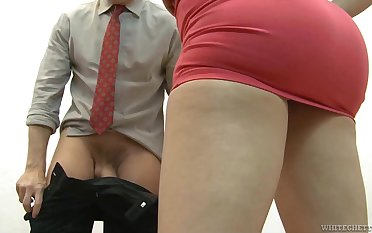 Hot MILF gets a man's dick hard right away ergo they get down to business