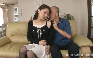 Creampie ending for Japanese MILF Marina Matsumoto after exact sex