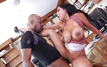 As contrasted with Of Doing Her Job, Priya Rai Is Having Wild Sex With Her Black Co- Worker