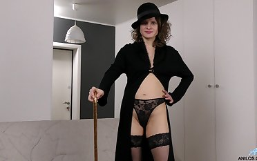 Kinky mature Princess Mustang pleasures say no to hairy think the world of hole