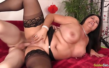 Hot and lickerish mature column enjoy their meaty pussies property pounded surrounding hard dicks