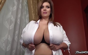 Incredibly busty babe flaunting - bestial tits