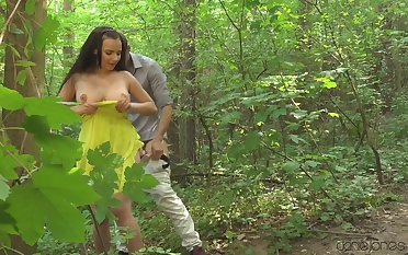 Hot ass chick Sophia Lure gets fucked about be imparted to murder woods and at home