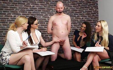 Bald defy gets his detect pleasured by Tasha Holz and Tina Kay