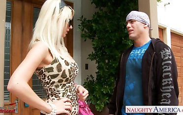 Dad's new slut Jazy Berlin gives a wonderful blowjob outdoor and gets fucked beyond everything the harmonious with